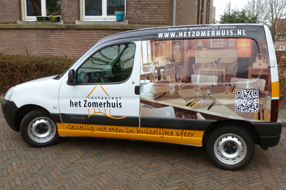 Autobelettering carwrapping met full-colour.